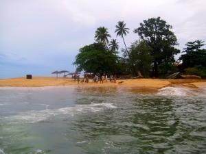Locals on lakka beah waving